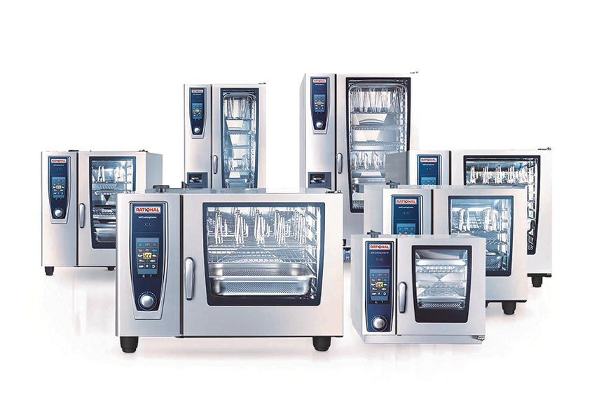 seven state-of-the art stainless steel ovens