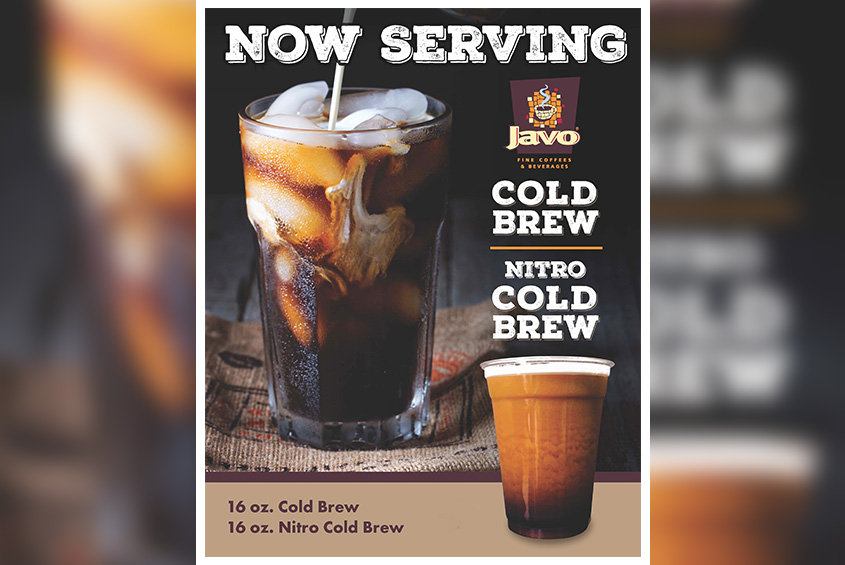 now serving cold brew flyer